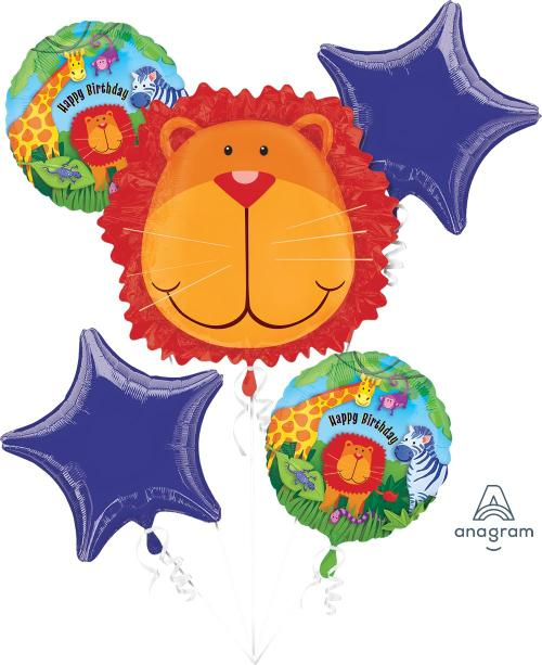 Jungle Animals Balloon Bouquet - Anagram