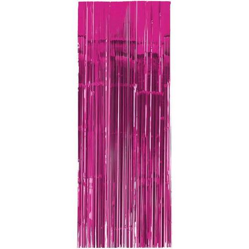 Bright Pink Metallic Curtain 3'x8'