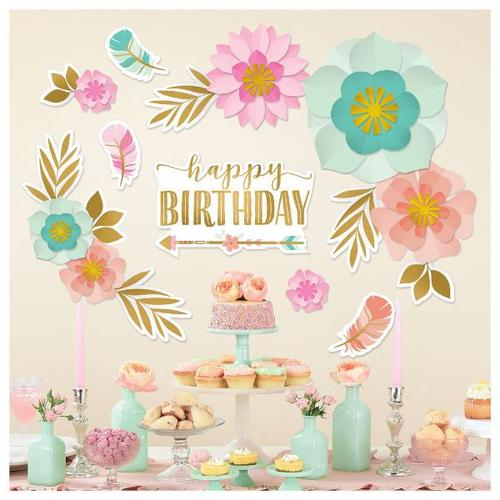 Boho Birthday Girl Backdrop - Amscan