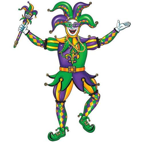 Mardi Gras Jester Jointed Cutout - Amscan