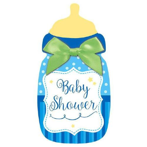 Baby Shower Novelty Large Invite Blue - Amscan