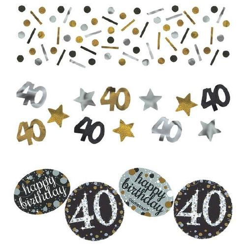Sparkling Celebration 40th Birthday Confetti