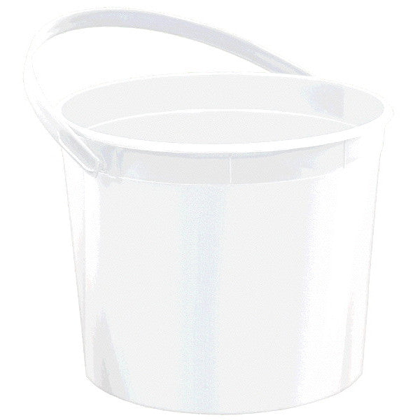Plastic Bucket w/Handle White - Amscan
