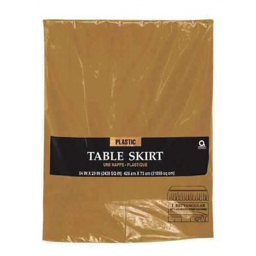 Gold  Plastic Table Skirt - Amscan