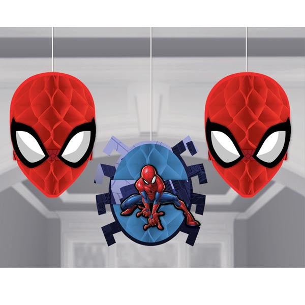 Spider Man Web Honeycomb Decorations - Amscan