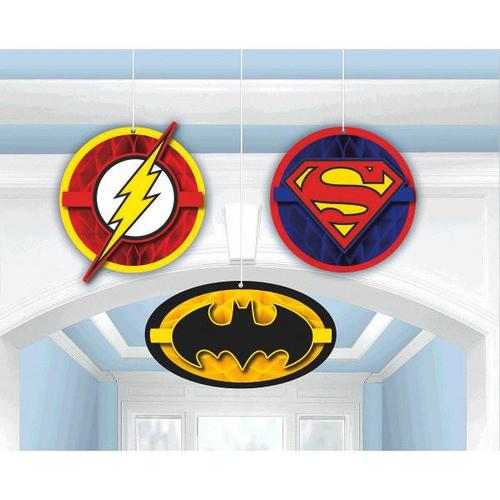 Justice League Honeycomb Decorations - Amscan