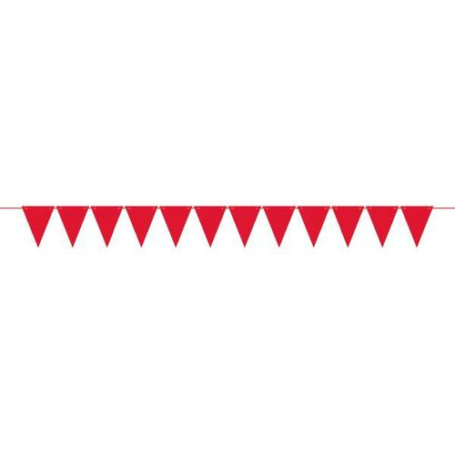 Mini Paper Pennant Banner Red - Amscan