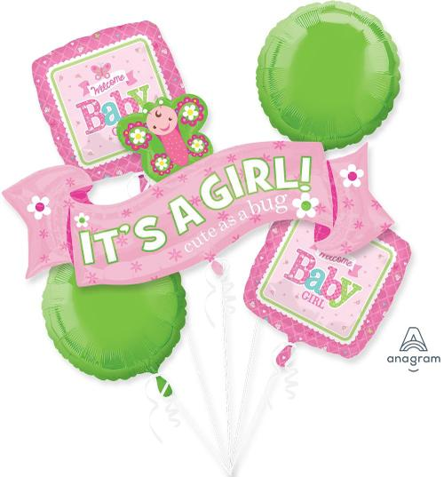 Welcome Little One - Girl Balloon Bouquet - Anagram
