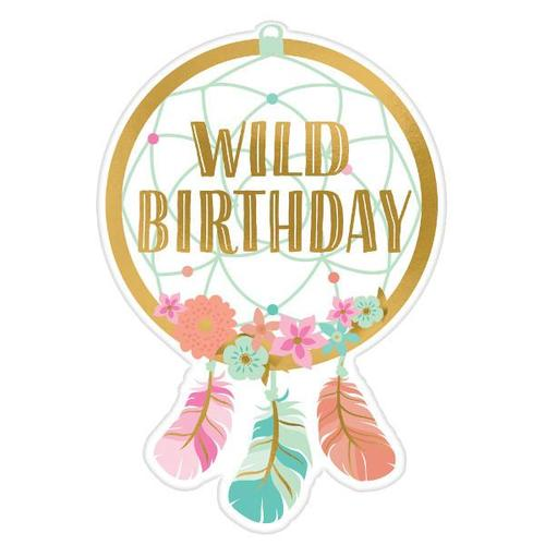 Boho Birthday Girl Invitations 8ct - Amscan