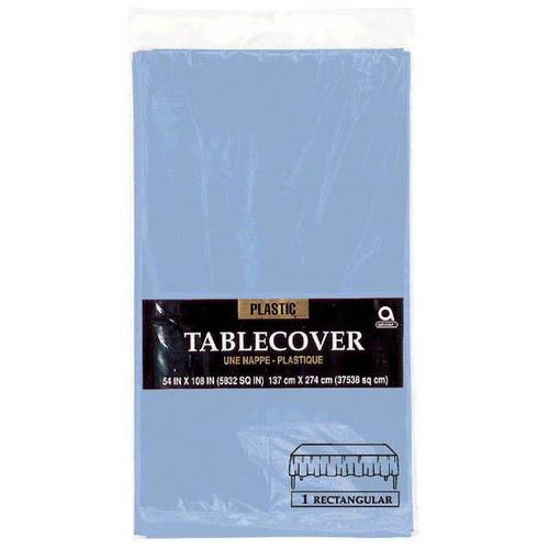 "Pastel Blue 54""x108"" Plastic Table Cover - Amscan"