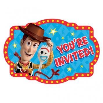 Toy Story 4 Invitations 8ct - Amscan
