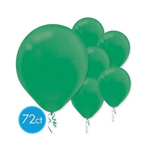 Latex Balloons 72ct Festive Green - Amscan