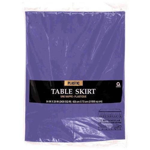 New Purple Plastic Table Skirt - Amscan
