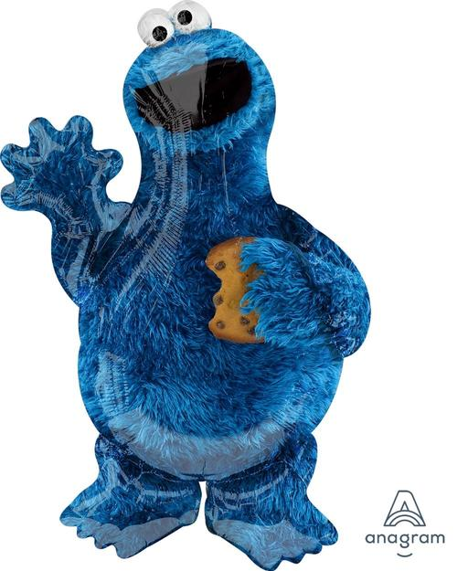 "Supershape Cookie Monster 35"" Balloon - Anagram"