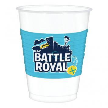 Battle Royal Plastic Cups 8ct - Amscan
