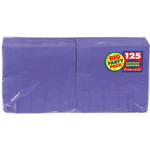 New Purple Lunch Napkin 125ct - Amscan