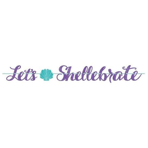 Mermaid Wishes Glitter Ribbon Banner - Amscan