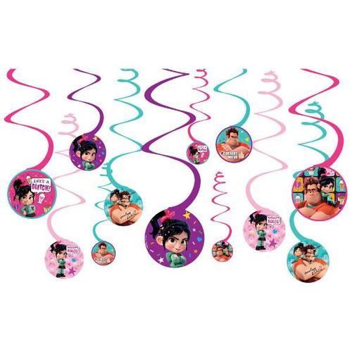 Wreck It Ralph 2 Swirl Decorations 12ct - Amscan