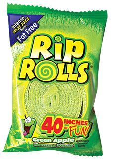 Rip Rolls Green Apple 24/1.4oz - Foreign Candy Company
