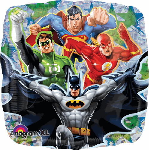 "18"" Justice League Square Foil Balloon - Flat - Anagram"