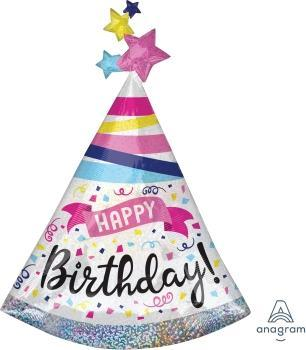 "Supershape Happy Birthday Sparkle Banner 36"" Balloon - Anagram"