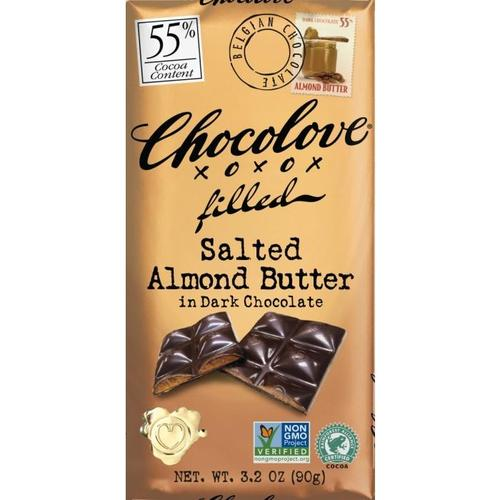 Dark Chocolate Salted Almond Butter Bar 10/3.2oz - Chocolove
