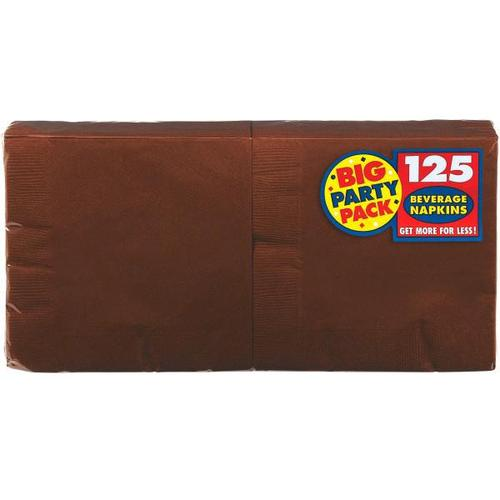 Chocolate Brown Beverage Napkin 125ct - Amscan
