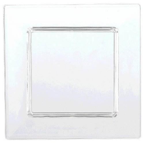 Mini Plastic Clear Square Plate 40ct