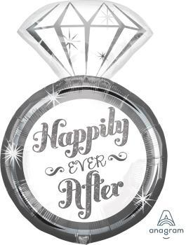 "Supershape Happily Ever After Ring 27"" Balloon - Anagram"