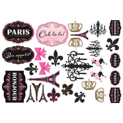 Day In Paris Cutouts 30Ct