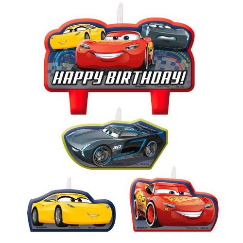 Cars 3 Candle Set - Amscan