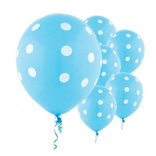 Latex Balloons Caribbean Dots All Over Print 6ct - Amscan