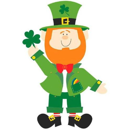 Leprechaun Jointed Paper Cutout - Amscan