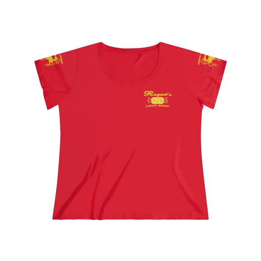 Women's Relaxed Tee (Yellow Logo) - Printify