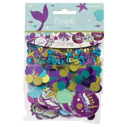 Mermaid Wishes Confetti - Amscan
