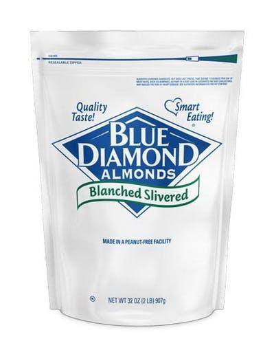 Almond Blanched Slivered 25lb - Blue Diamonds Growers