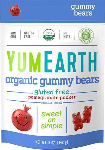 Pomegranate Pucker Gummy Bears 12/5 oz bags - YumEarth