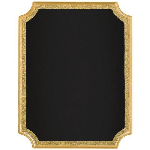 Chalkboard Easel Sign Gold Glitter Border - Amscan