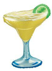 "Supershape Margarita Glass 36"" Balloon - Betallic"