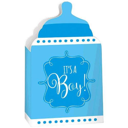 Baby Shower Paper Container Blue - Amscan