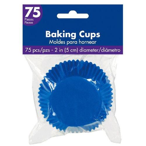 Cupcake Cases Royal Blue 75ct - Amscan
