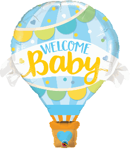 "Supershape Welcome Baby Blue 42"" Balloon - Qualatex"