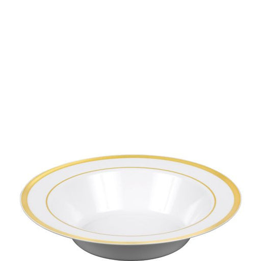 Premium Bowl White w/Gold Trim 10ct