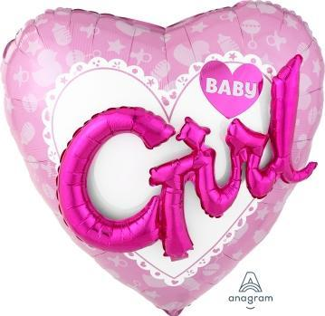 "Supershape Multi 3D Celebrate Baby Girl 32"" Balloon - Anagram"