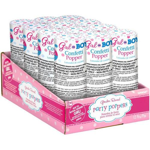 Confetti Poppers Girl Pink - Amscan