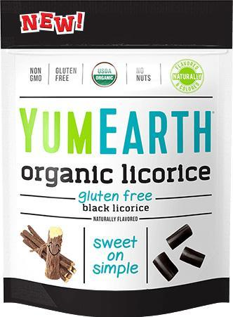 Organic Gluten Free Black Licorice 12/5 oz bags - YumEarth