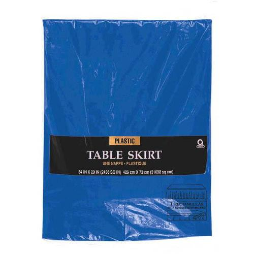 Bright Royal  Blue Plastic Table Skirt - Amscan
