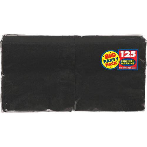 Jet Black Lunch Napkin 125ct - Amscan