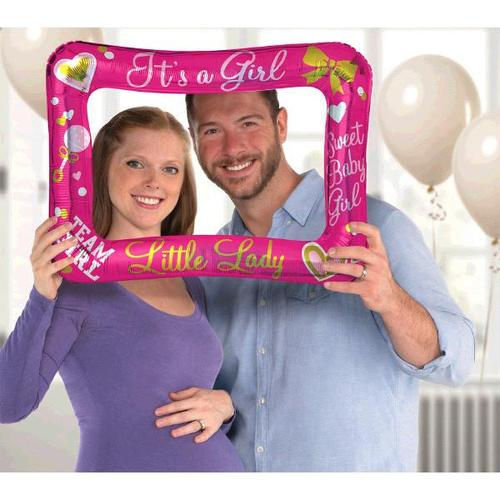 Gender Reveal Inflatable Frame Girl - Amscan