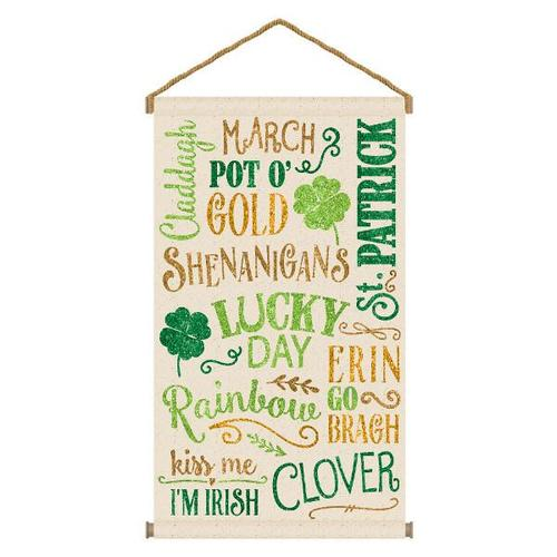 St Patrick's Day Large Hanging Sign - Amscan
